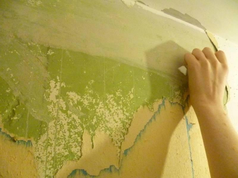 Как удалить эмалевую краску со стен?