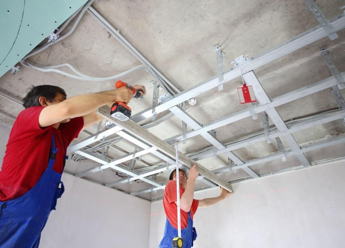 Как сделать подвесной потолок из листов гипсокартона?